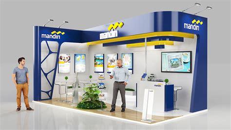 booth design bank bank mandiri on behance