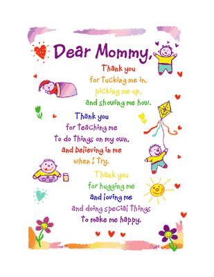 printable greeting cards mother s day dear mommy greeting card mother s day printable card