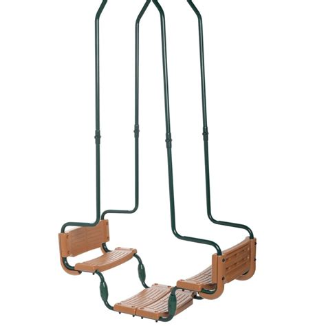 swing king swing king double swing green and brown square hook