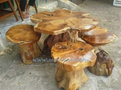 Meja Dari Akar Kayu set meja tamu akar kayu jati toko meja kayu