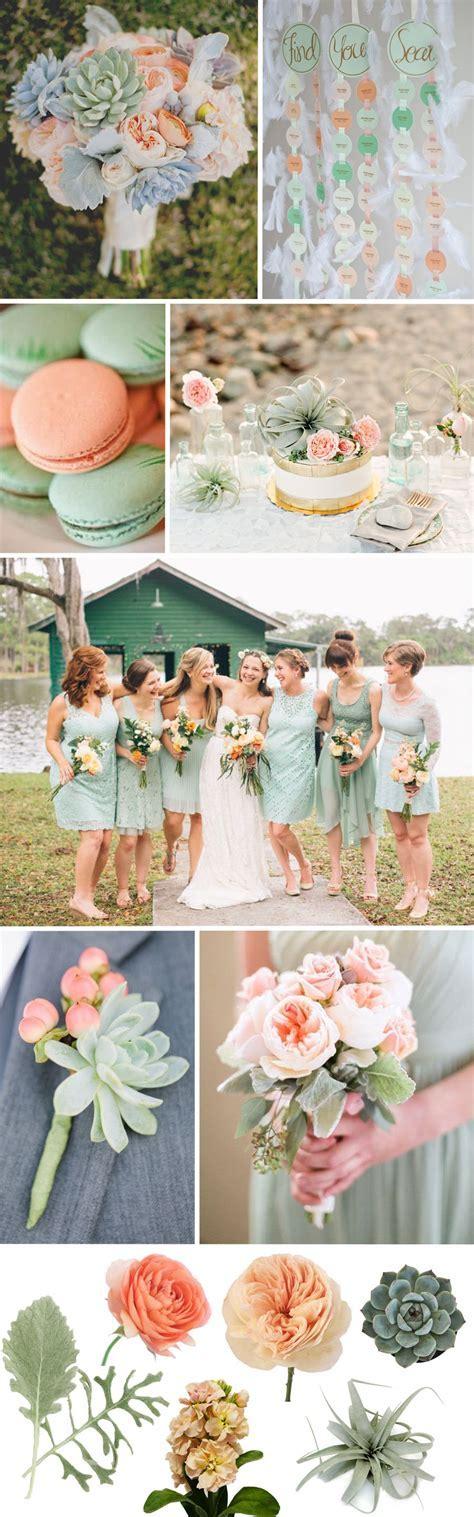 Peach & Sage Green Wedding Inspiration   Wedding Color