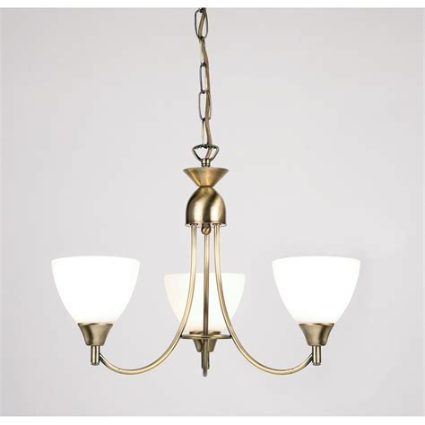 endon 1805 3an 3 light ceiling light antique brass
