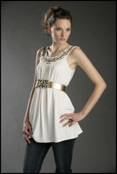 Tunic Topaz 12 halter yoke neckline tops and dresses autumn 2007 fashion