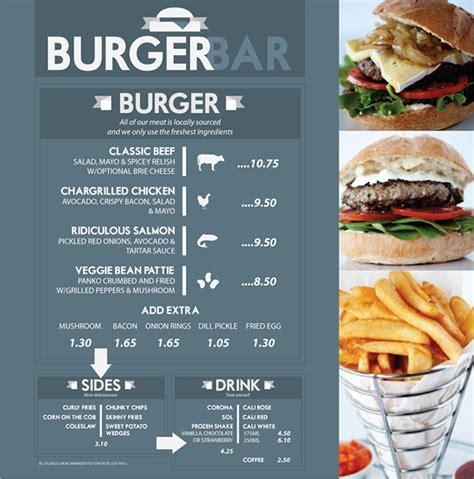 Design Menu Burger | burger bar menu on behance