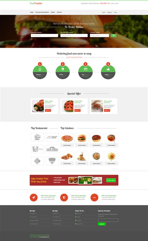 Food Restaurant Ordering Shop Website Template Html Free Html5 Templates Restaurant Website Template With Ordering