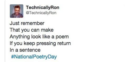 national poetry day twitters funniest reactions  rhymes huffpost uk