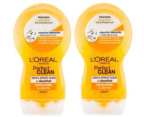 Scrub L Oreal catchoftheday au 2 x l or 233 al clean gentle apricot scrub cleanpod exfoliating 150ml