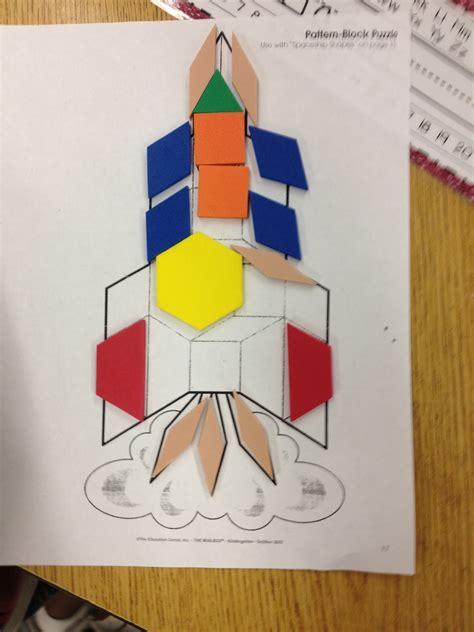pattern blocks in kindergarten kroger s kindergarten space fun