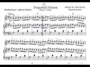 Perpetual Motion Suzuki Book 1 Partitura Perpetual Motion N 186 9 Viol 237 N Y Piano M 233 Todo