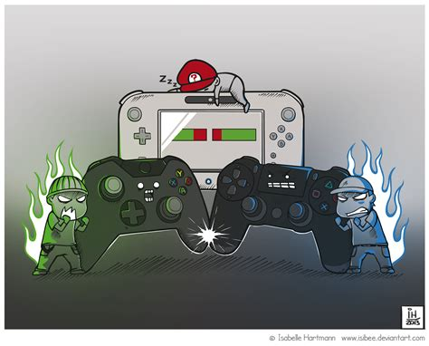 next nintendo console next consoles battle by isibee on deviantart