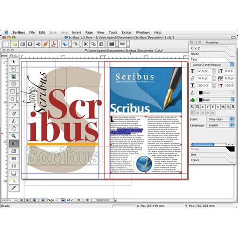 graphic design page layout software free graphic design software