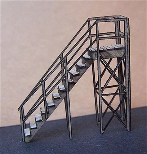 Rs With Handrails stairs with handrail kit n scale model railroad building accessory 3509 by rs laser 3509