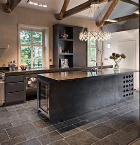 Large Custom Kitchen Islands Built In Wine Racks Contemporary Kitchen Lucinda