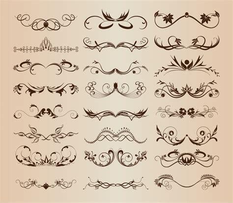 Wedding Font Ornament by Vintage Ornament Decorative Design Elements Vector Set 3