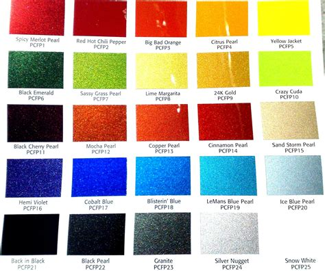car paint color chart auto color library we will match