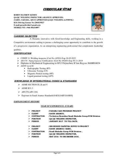 Cover Letter Welding Inspector by Certified Welding Inspector Resume Welding Inspector