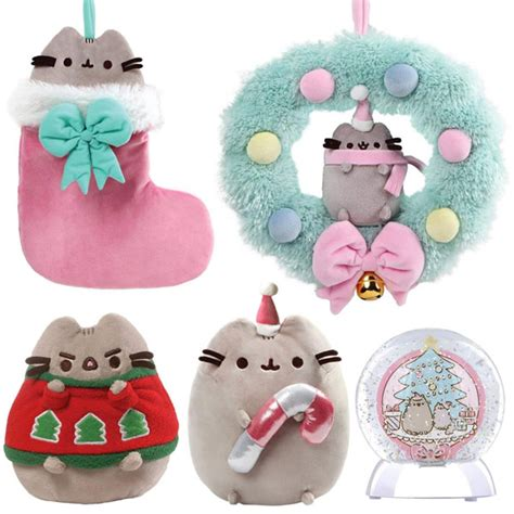 Gund Pusheen Christmast Wreath gund uk pusheen plush review kawaii