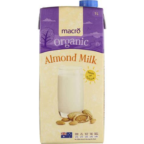 Almond Milk 1l macro organic almond milk 1l woolworths