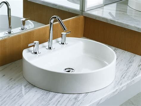 bathroom sink material comparison k 2331 8 chord wading pool sink with 8 inch centers kohler