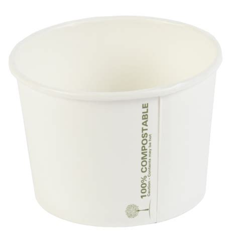 16oz Large Biodegradable Soup Cups   Paper Soup Containers   event supplies