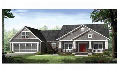 one story house plans with porch single story craftsman style homes craftsman style ranch