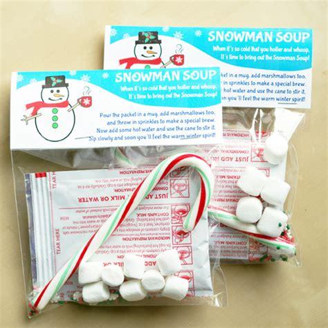 snowman soup bag topper labels free printable