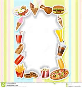 menu card with fast food stock vector image of edit