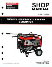Honda Manuals Honda Eb3800 Eb5000 Eb6500 Generator Service Repair Shop