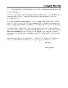 Cover Letter Sle Custodian Sle Cover Letter For Custodian Guamreview