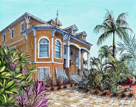 Victorian Cottage Plans magnolia beach house drawing by joan garcia