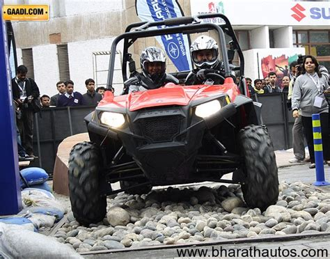 indian car on road 2012 auto expo polaris launches its new off road