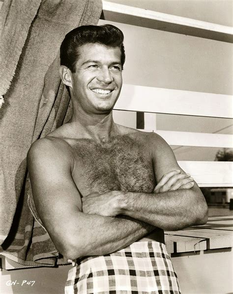 rock hudson shirtless george nader hollywood threw him to the dogs to cover