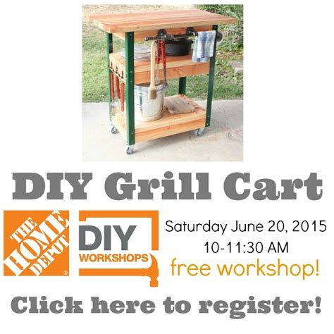 home depot diy workshops how to build a grill cart the home depot diy workshop