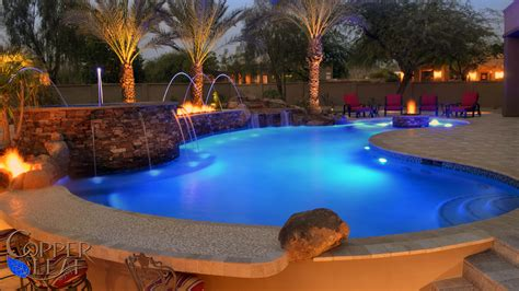 dream backyard  scottsdale az copper leaf pools