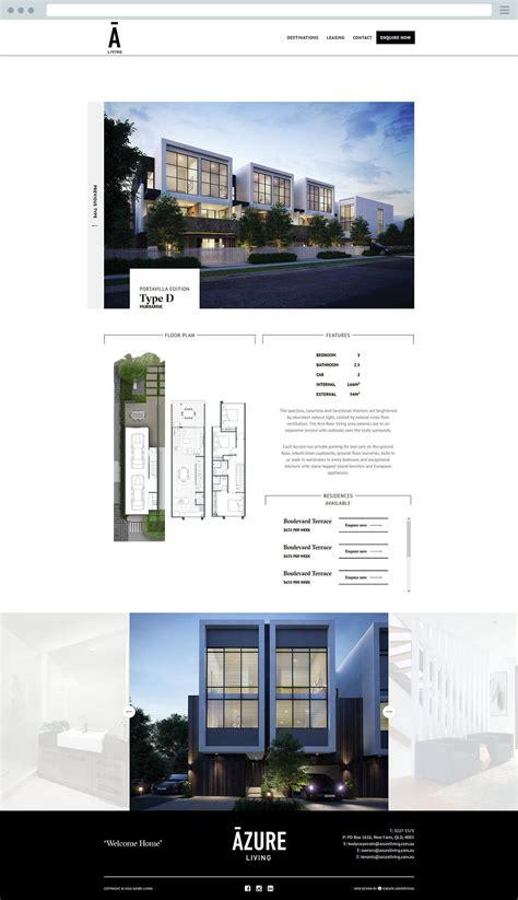 luxury website design azure living luxury website design icreate advertising