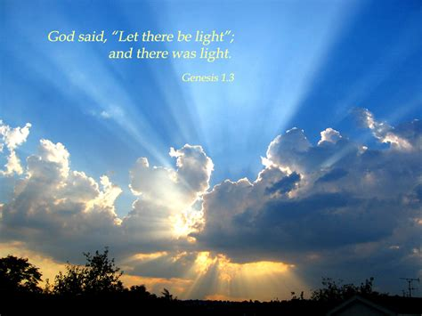god said let there be light genesis1 3 poster quot god said let there be light and