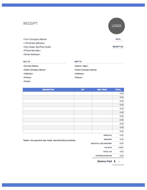 Drive Receipt Template by Receipt Template Free To From Invoice Simple