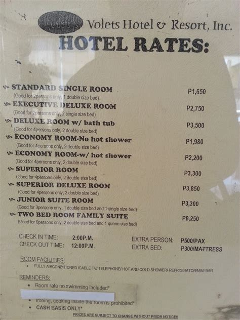 Resort Room Rates by Angelo The Explorer Volet S Resort Dasmarinas City Cavite