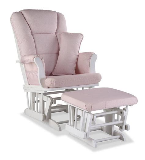 Pink Glider And Ottoman Stork Craft Tuscany Custom Glider And Ottoman White Pink