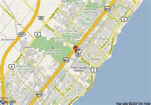 map of quality hotel executive suites oakville