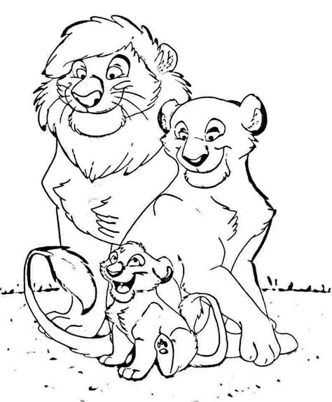 coloring page lion cub coloring page of a family coloring home