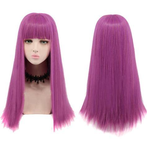 mal hair long full bang striaght synthetic descendants 2 mal