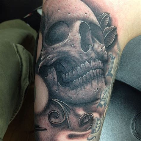 quick skull gap filler tattoo by craig holmes iron hors