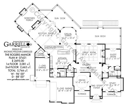 rogers manor house plan house plans by garrell