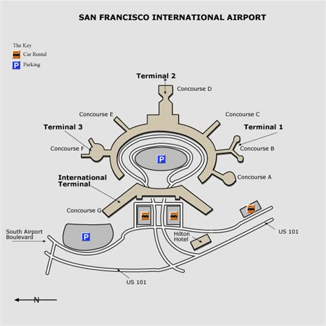 san francisco international map directions to san francisco international airport