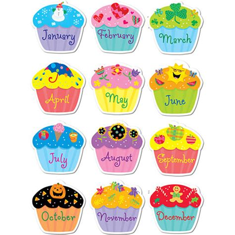 Calendã Escolar Fcup Poppin Patterns Birthday Cupcakes Stickers Kool Child