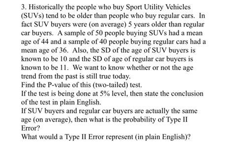 solved  historically  people  buy sport utility  cheggcom