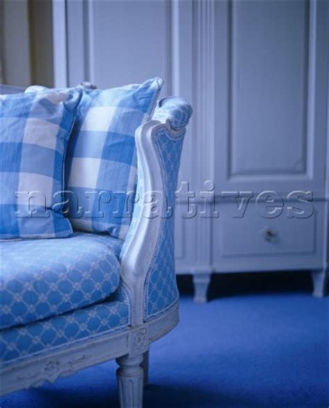 Blue Patterned Sofa by Ac071 14 Detail Of Gustavian Sofa With Blue And White