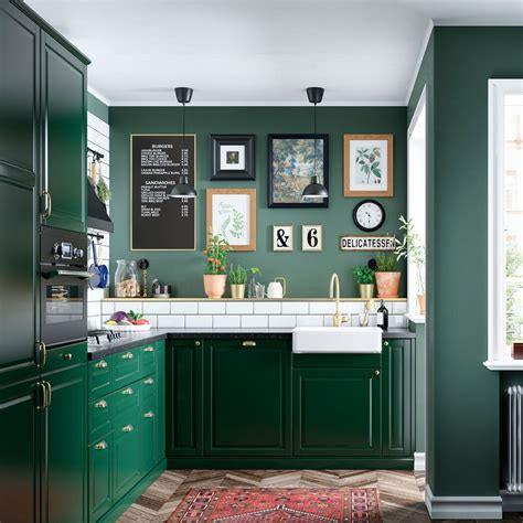 green  fresh bodbyn kitchen ikea