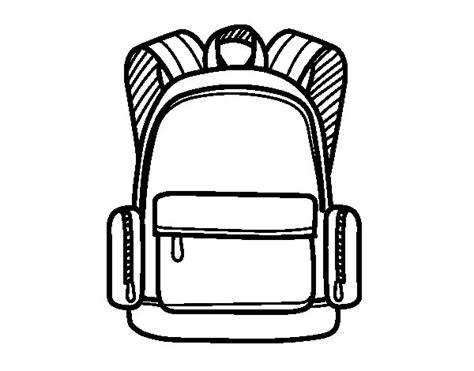 sac d駛euner bureau coloriage de un sac 224 dos pour colorier coloritou com